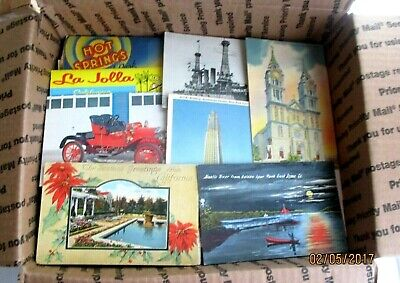 Huge Lot of 500+ Antique Mix of travel postcards 1900 to 1980s