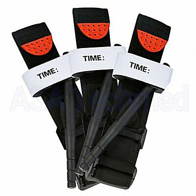(Lot of 3) Tourniquet Rapid One Hand Combat App. Emergency Outdoor First Aid