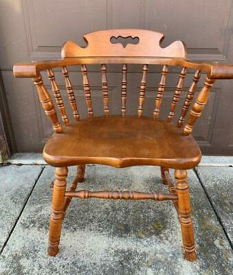 Tell City Hard Rock Maple Mates Captains Dining Chair Colonial Andover Finish #2