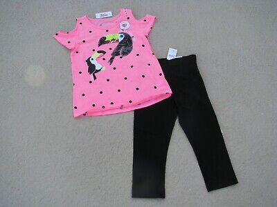 Justice Nwt Girls Sz 8 Outfit - Toucans / Polka Dots / Reversible Sequins !!!!!!