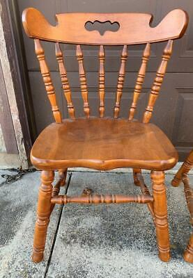 Tell City Hard Rock Maple Dining Chair Colonial Style Andover Finish #2