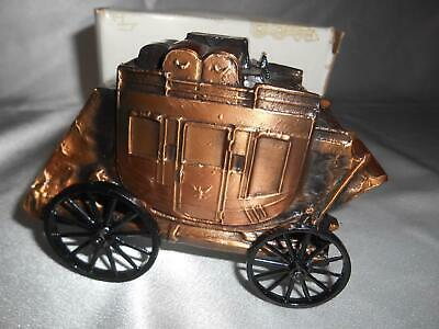 Old Vtg BANTHRICO ST. CLAIR SAVINGS STAGECOACH STILL PIGGY COIN BANK ADVERTISING