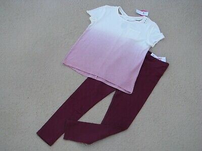 Justice Nwt Girls Sz 8 Outfit - Shirt & Leggings - So Pretty!!!