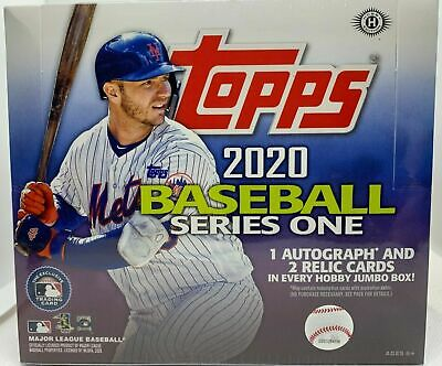 2020 Topps Series 1 Baseball Factory Sealed Unopened Hobby Jumbo Box ~ 10 Packs