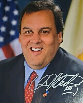 Chris Christie Hand Signed 8x10 Photo W/Holo COA Former New Jersey Governor