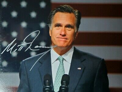 Mitt Romney Hand Signed 8x10 Photo w/Holo COA