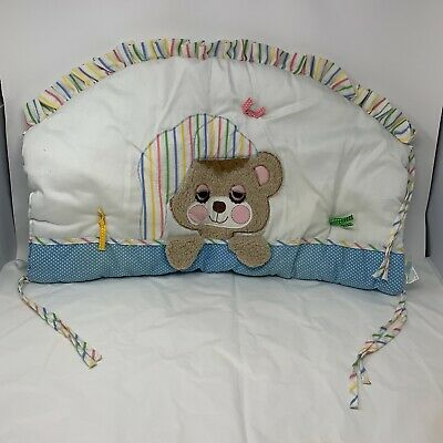 Riegel Teddy Beddy Bear Crib Headboard Cover & Dust Ruffle 1982 Judi Morgan