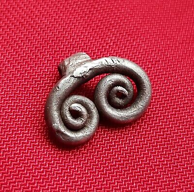 Ancient CELTIC / Roman silver twisted pendant