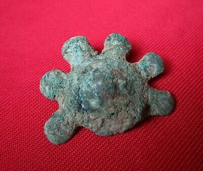 Ancient Celtic HUGE BRONZE HORSE HARNESS / DECORATION . 20 gr . 400 BC.