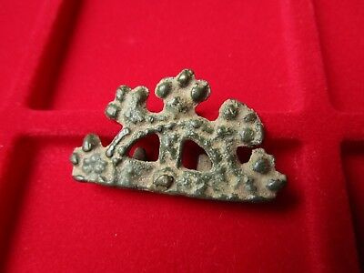 Ancient Celtic bronze decorative mount . circa 50 AD .