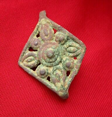 Ancient Celtic bronze amulet - pendant in form of Sun 45 mm . circa 100 BC.