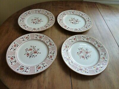 4 Bread Plates Vintage Royal Crown Derby China Lucienne 1278 Gold Floral