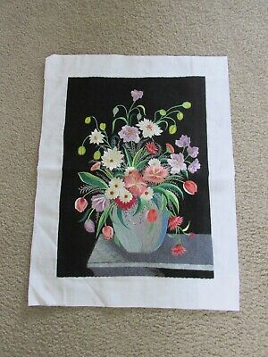 Gorgeous Floral Embroidered Picture On Fabric