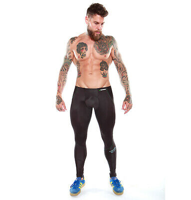 Mens Compression Tights Skins Pants Gym Running A400 Multi Sport Weightlifting