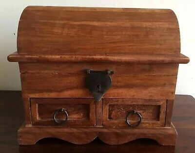 Lovely Large Wooden Box With Iron Handles