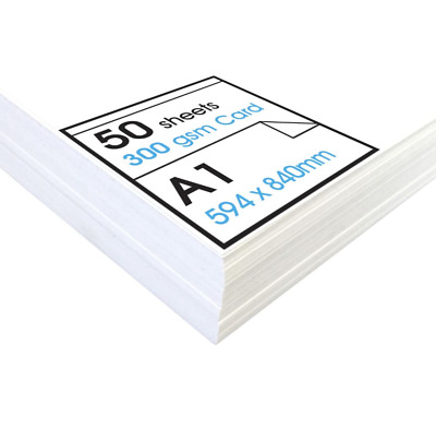 Artway« Studio 'High' White Card - A1-300gsm - Ideal for Presentation Display, -