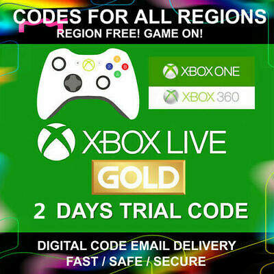XBOX LIVE Game Pass 48 Hour 2 Days Gold Trial Code 48HR 2 Day Global Delivery
