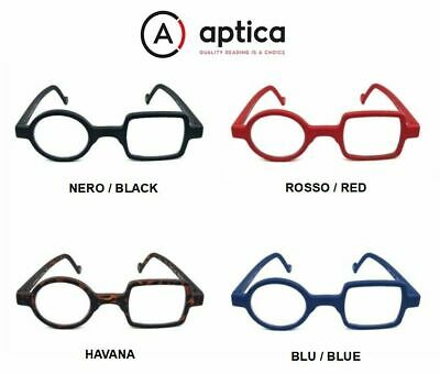 "OCCHIALE DA LETTURA PREMONTATO APTICA POP ART DONALD RED  /""BLUE CONTROL LENSES/"""
