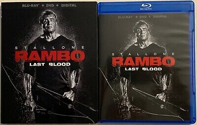 Stallone Rambo The Last Blood Blu Ray Dvd 2 Disc Set + Slipcover Sleeve Buy It