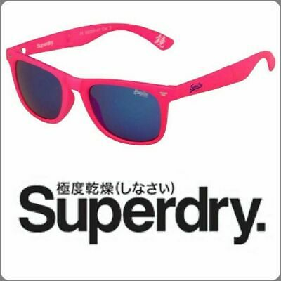 Unisex Genuine Superdry Supergami 116 Folding Sunglasses Neon Pink