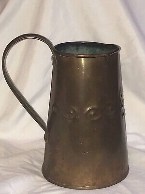 19th Century Arts And Crafts Hand Beatten Copper Jug