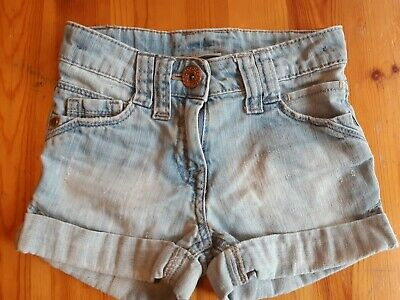Girls Next Light Blue Denim Shorts With Adjustable Waist Age 4 Years
