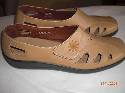 HOTTER comfort concept Passion Tan Leather Shose Size 7 UK 41 EU