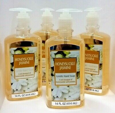 ( LOT 4 ) HONEYSUCKLE JASMINE Pump Gentle Hand Soap Gel 14 oz Ea BRAND NEW