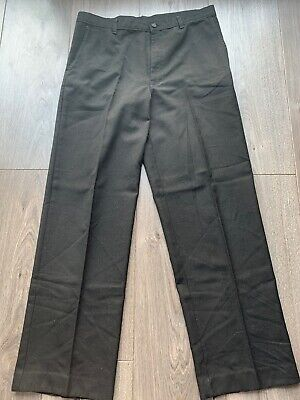 Marks & Spencer Boys School Trousers Black Colour UK Size Age 14 years