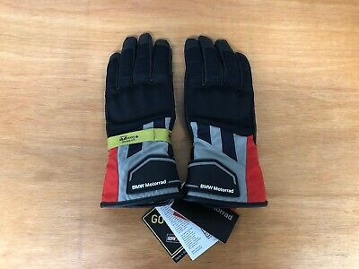 BMW GS Dry Motorbike / Motorcycle Gloves - Size 9-9.5 - Grey / Red