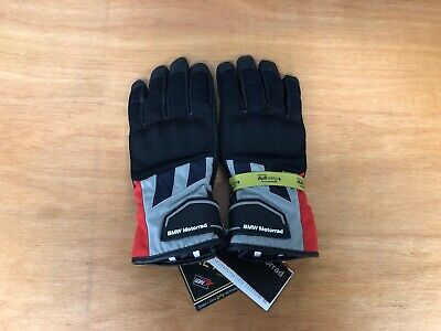 BMW GS Dry Motorbike / Motorcycle Gloves - Size 11-11.5 - Grey / Red