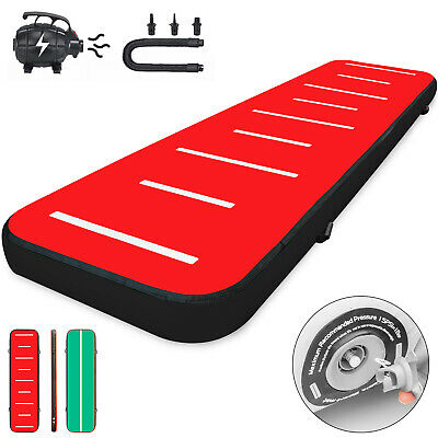 13FT Air Track Inflatable Airtrack Tumbling Gymnastics Mat w/Pump Yoga 8in Home