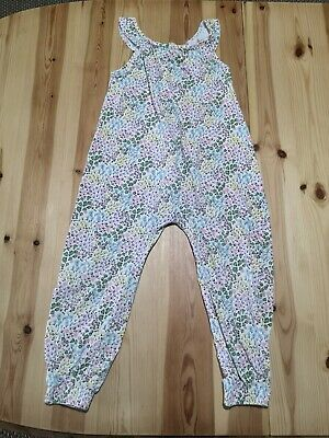 Girls Matalan Floral Summer Jumpsuit Size 3-4 Years