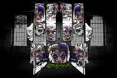 "YAMAHA RAPTOR 350 ATV GRAPHICS /""THE JESTERS GRIN/"" WHITE MODEL"