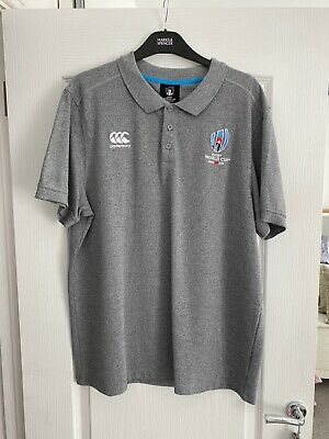Canterbury Rugby World Cup 2019 Polo Grey 2XL Mens