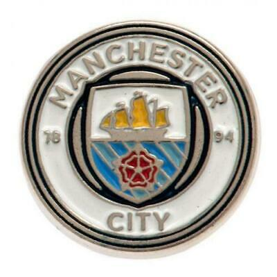 Official MANCHESTER CITY FC Metal Pin BADGE Club Crest Man City Gift