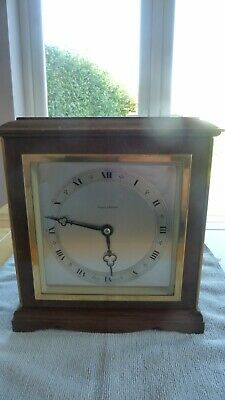 Elliott Mantel Clock - Mappin & Webb - 24cm high x 22cm wide