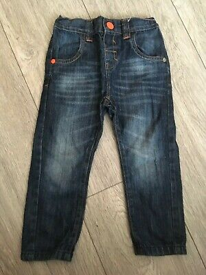 NEXT BOYS JEANS Age 2 - 3 years Blue Denim Distressed Look Elasticated Back