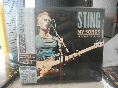 "Sting ""My Songs"" Japanese 2 SHM-CD's Special Edition Set *New* UICA-1072/3"