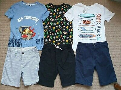 Boys Size / Age 8-9 Years Holiday Clothes Next Shorts & H&M T-Shirt Bundle F