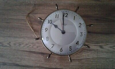 Smiths Sectric Electric Clock, Ship Wheel Style