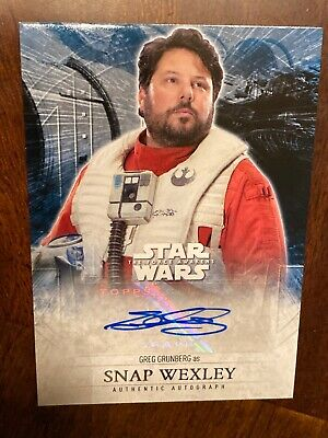 Topps Star Wars Auto Wexley Grunberg Card Force Awakens Series 2 2015
