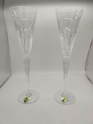 Waterford Crystal Lismore Diamond Toasting Flutes Set of 2 - New in Box - 156786