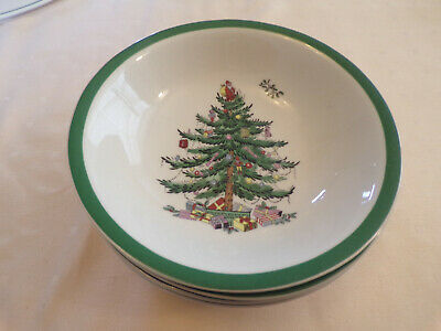 Spode Christmas Tree - 4 Cereal/Dessert Bowls - Excellent Condition