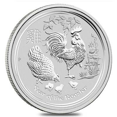 Australian Silver Lunar Series 2017 - Year of the Rooster - 10 oz