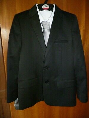 Marks and Spencer (M&S) Boys Suit Jacket and Shirt Age 9-10 Excellent Cond