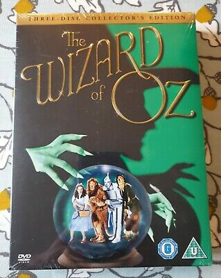 The Wizard Of Oz DVD (3 Disc Collectors Edition) Brand New In Seal