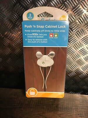 Safety First Side by Side Clamshell Cabinet Baby Proof Lock 2 Locks per Pack
