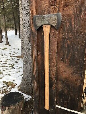 """Very Nice Condition 3 1/2 Pound Double Bit Axe 35"""" Handle Made USA"""
