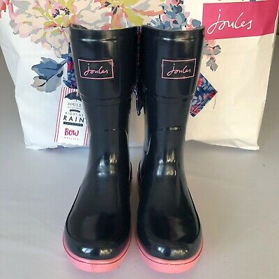 Girls Joules Bow Top Wellies Size 12 BNWT